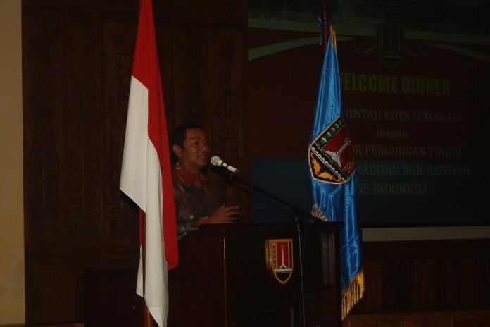 Walikota Semarang diacara welcome dinne