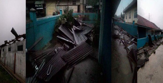 MTS Muhammadiyah yang porak-poranda karena puting beliung