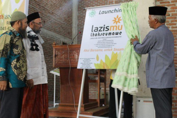 Lazismu Lhokseumawe Lauching bersama warga dan simpatisan Muhammadiyah