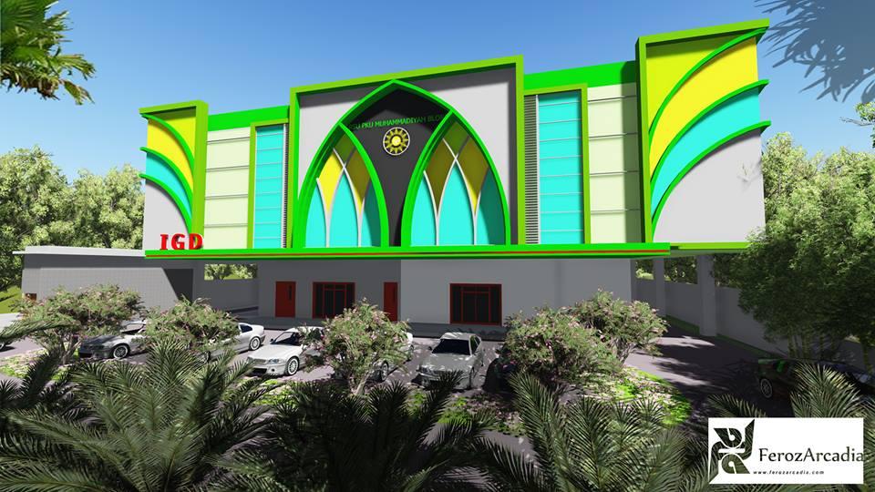Desain RS PKU Muhammadiyah Blora tampak depan
