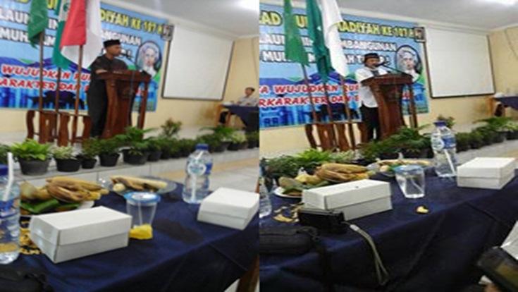 Sambutan Camat Randublatung (kiri) dan H.Muslem (kanan) (Foto: H.Muslem)