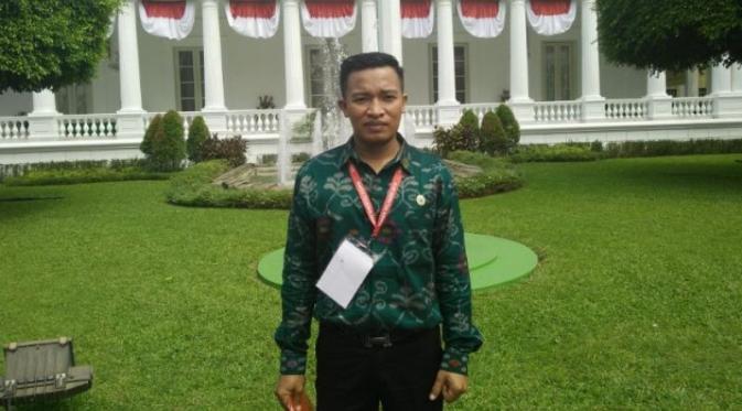 Herman saat di Istana Negara