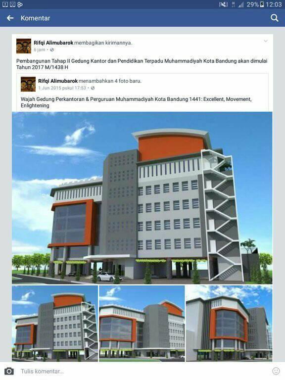 Ketua PDM Kota Bandung di akun social media